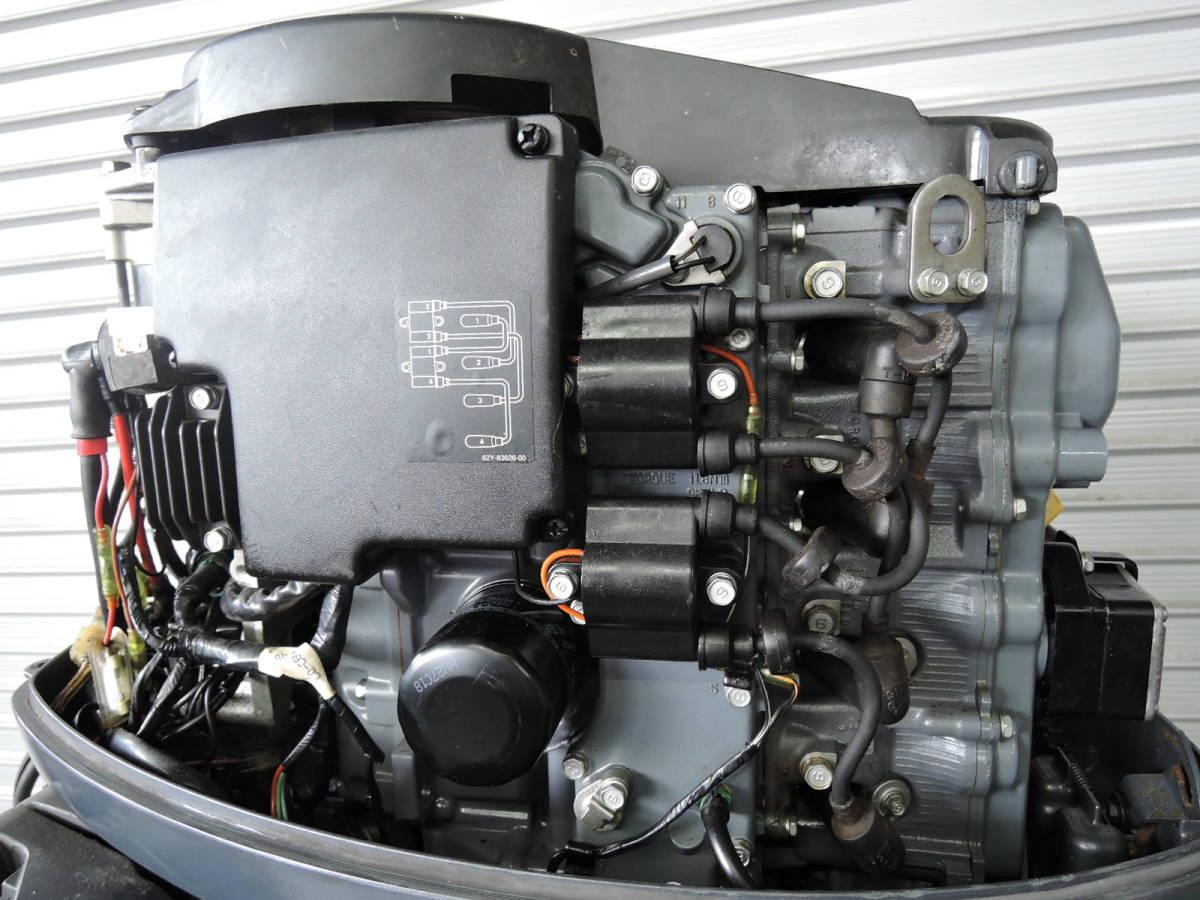エンジン始動OK YAMAHA ヤマハ 船外機 60馬力 4スト 付属品付 S490418 スズキ トーハツ ホンダ 30 40 50 70 80 90_画像4