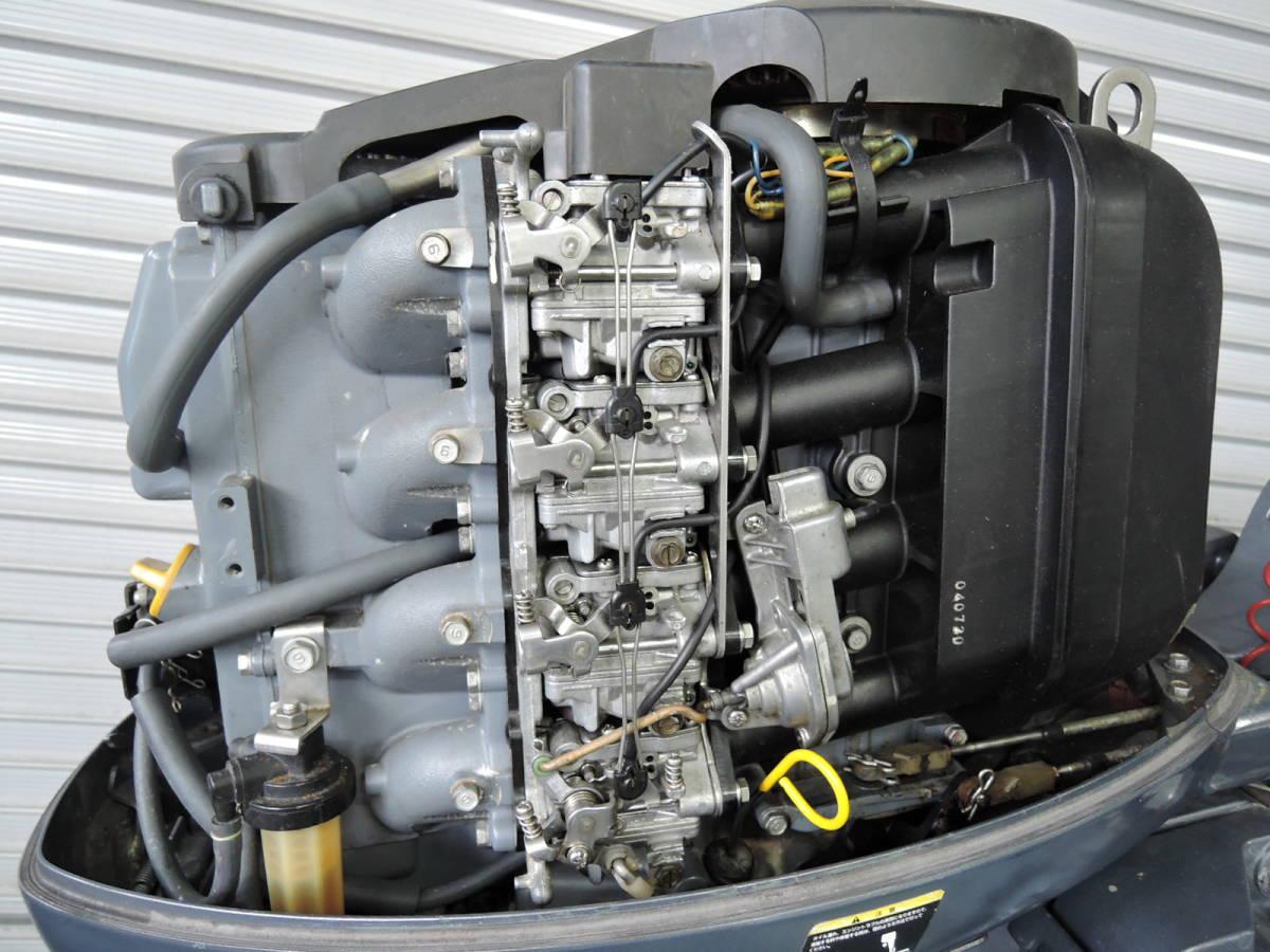 エンジン始動OK YAMAHA ヤマハ 船外機 60馬力 4スト バーハンドル M910416 スズキ トーハツ ホンダ 30 40 50 70 80 90_画像3