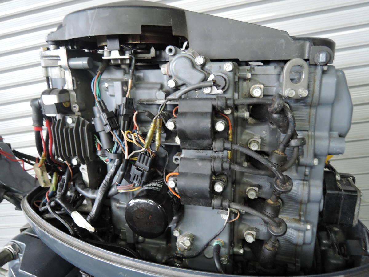 エンジン始動OK YAMAHA ヤマハ 船外機 60馬力 4スト バーハンドル M910416 スズキ トーハツ ホンダ 30 40 50 70 80 90_画像4