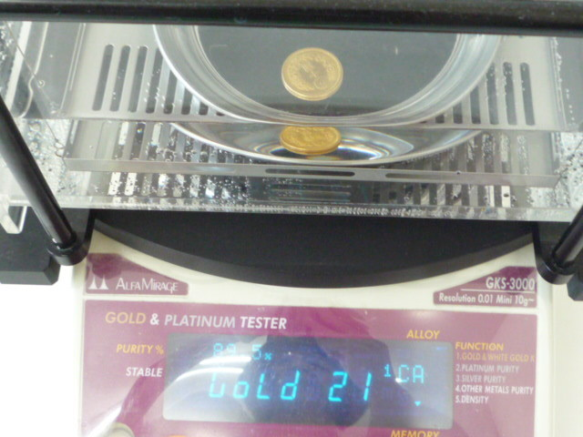 ◆◇1円~ ♪ 新10円金貨 十圓金貨 明治42年 K21 量目8.35g 直径21.1㎜ 近代貨幣◇◆_画像6