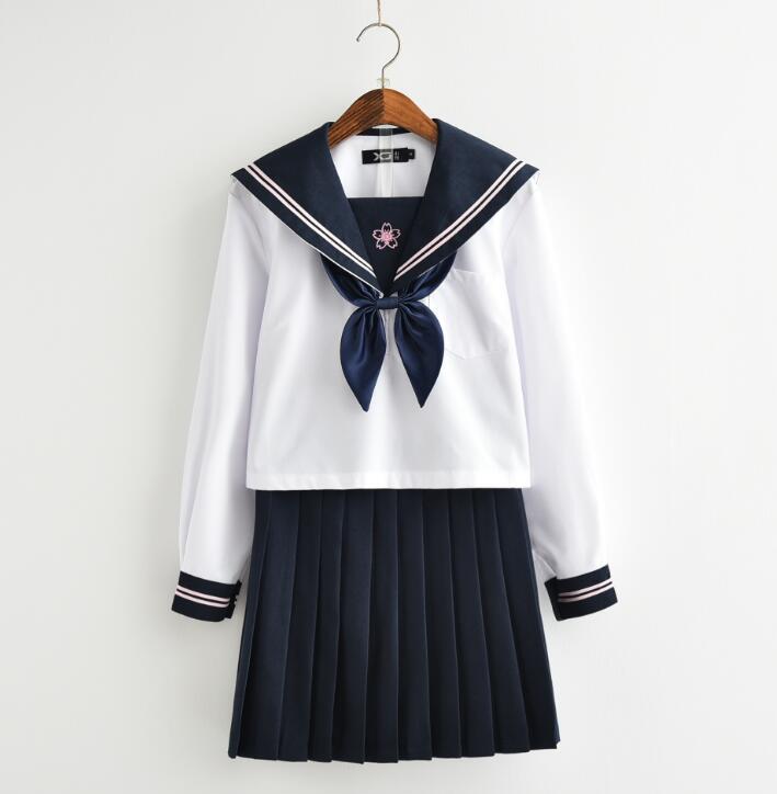 セーラー服 学生服 上下 スクールウエア 女子 中学 高校 学生 制服 通学用+ギフトソック
