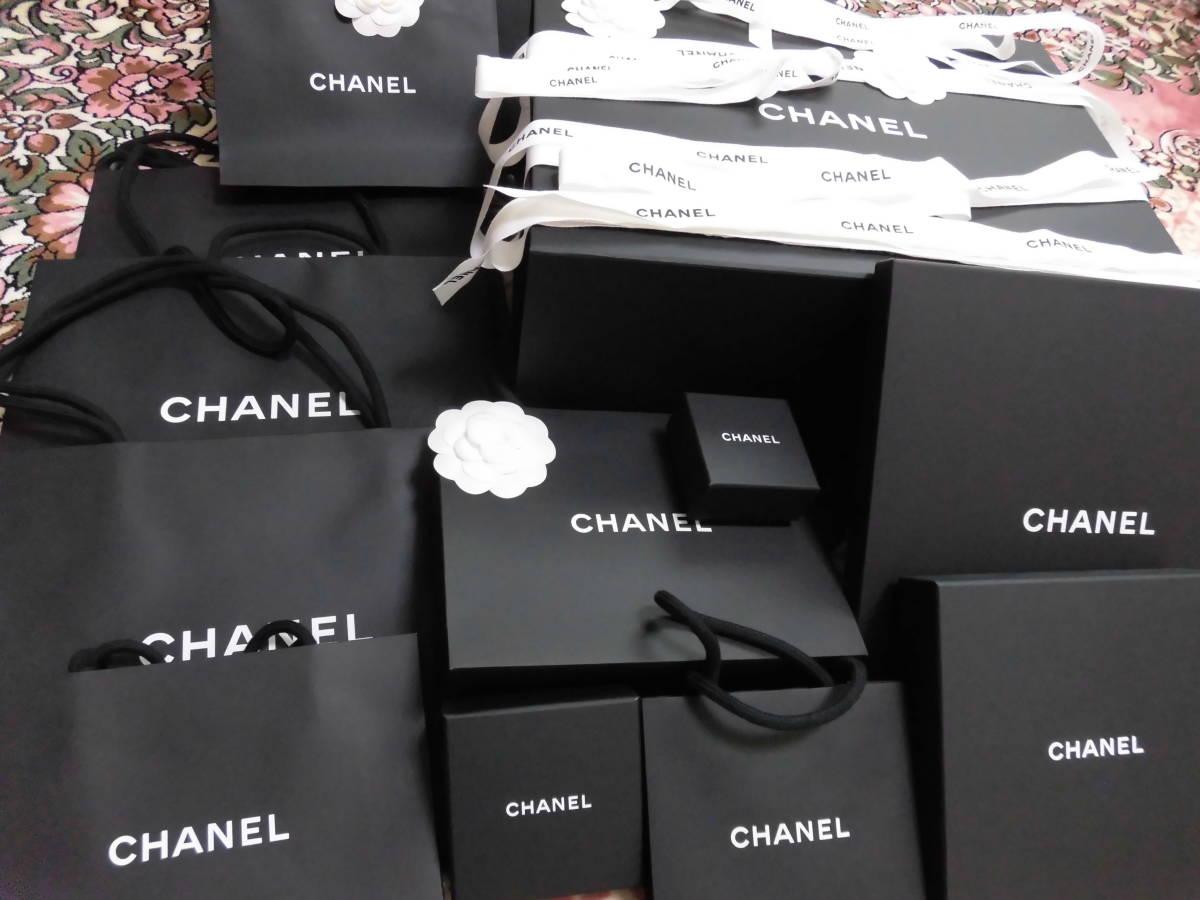 be8c7c1dc223 CHANEL シャネル ショップ袋 紙袋 ショッパー 空箱ピアスボックスCHANELロゴリボン未使用