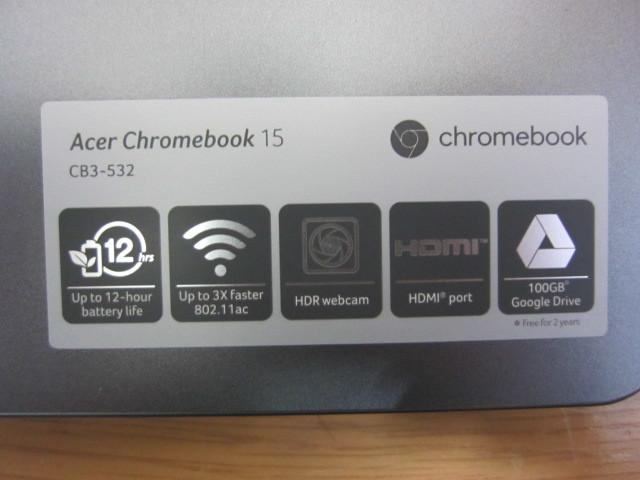 美品、海外製Chromebook 15 cb3-532-c1zk、おまけつき!_画像6
