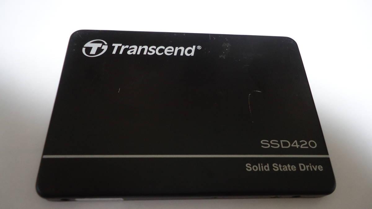 ♪♪1円 ~スタート Transcend SSD420K 128GB SATA3 2.5インチ 中古♪♪_画像3