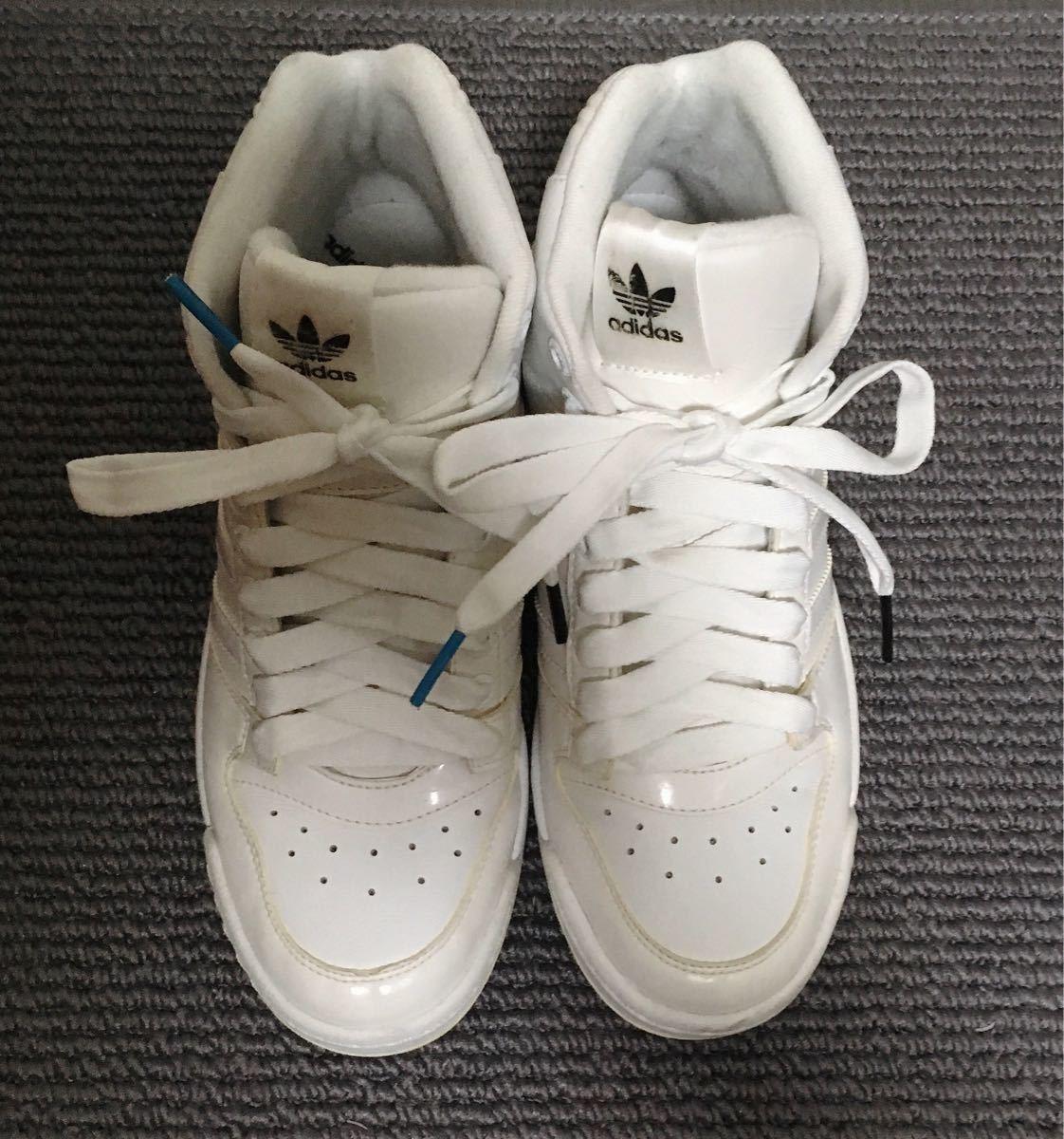 【極美品】adidas ハイカットスニーカー 白 23.5 アディダス_画像6