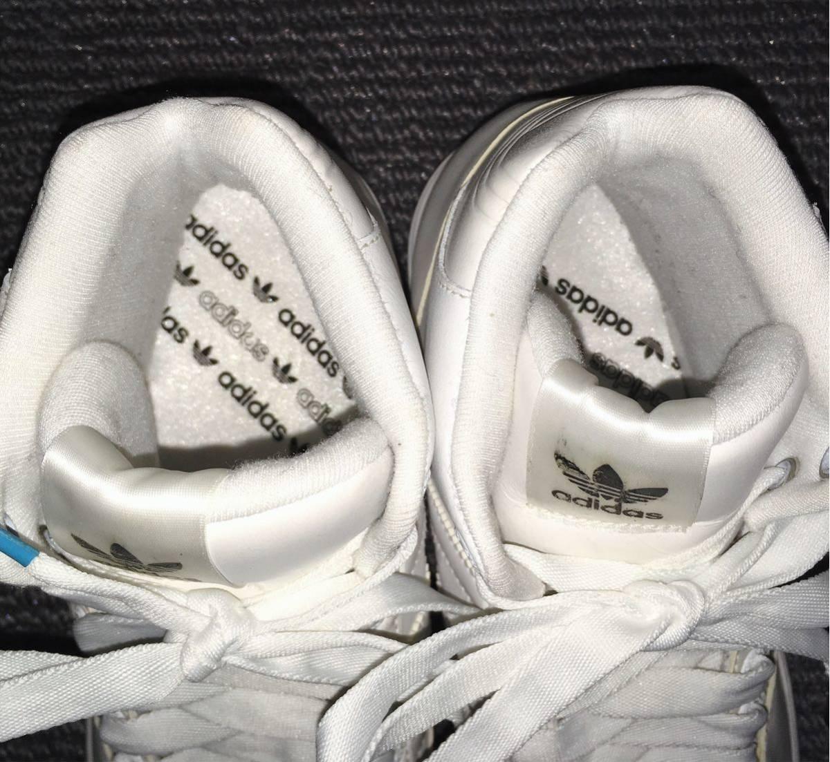 【極美品】adidas ハイカットスニーカー 白 23.5 アディダス_画像7