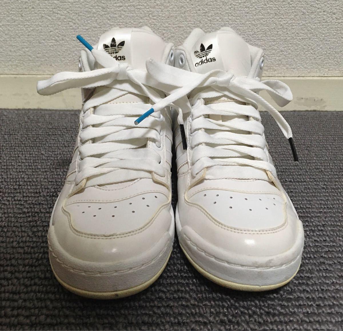 【極美品】adidas ハイカットスニーカー 白 23.5 アディダス_画像4