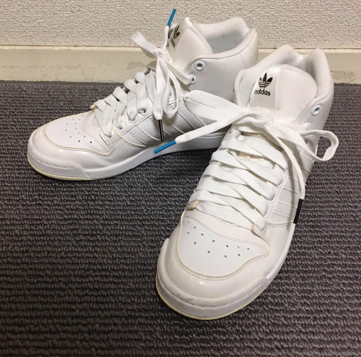 【極美品】adidas ハイカットスニーカー 白 23.5 アディダス_画像3