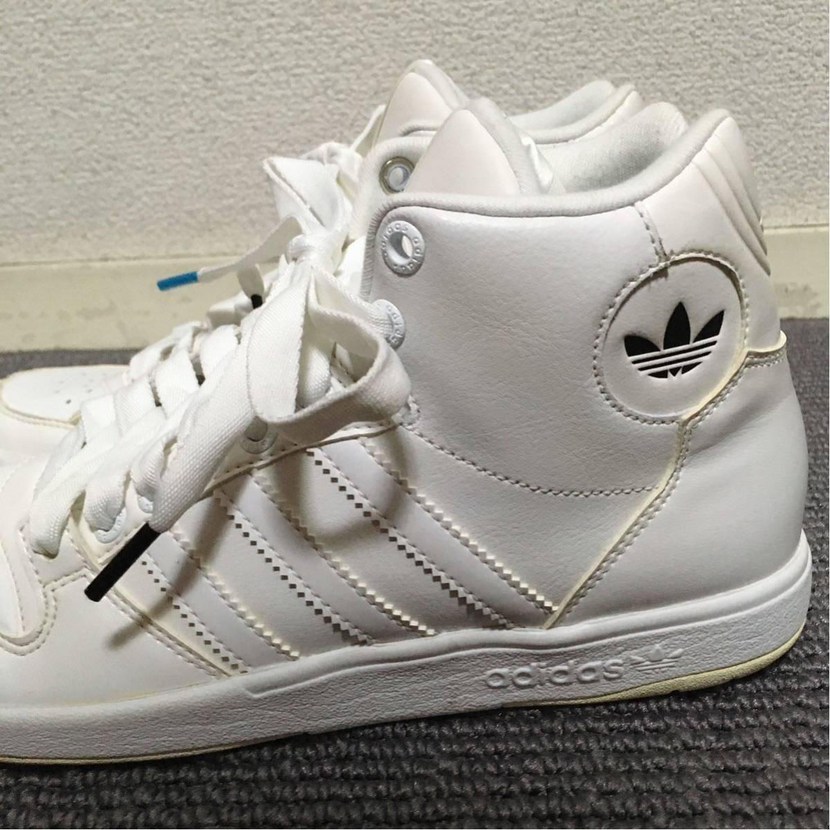 【極美品】adidas ハイカットスニーカー 白 23.5 アディダス_画像2