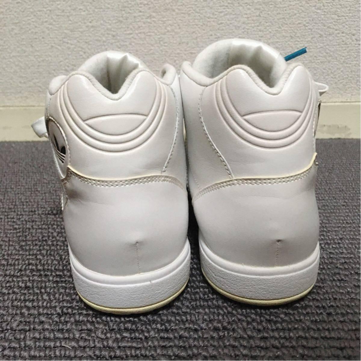 【極美品】adidas ハイカットスニーカー 白 23.5 アディダス_画像9