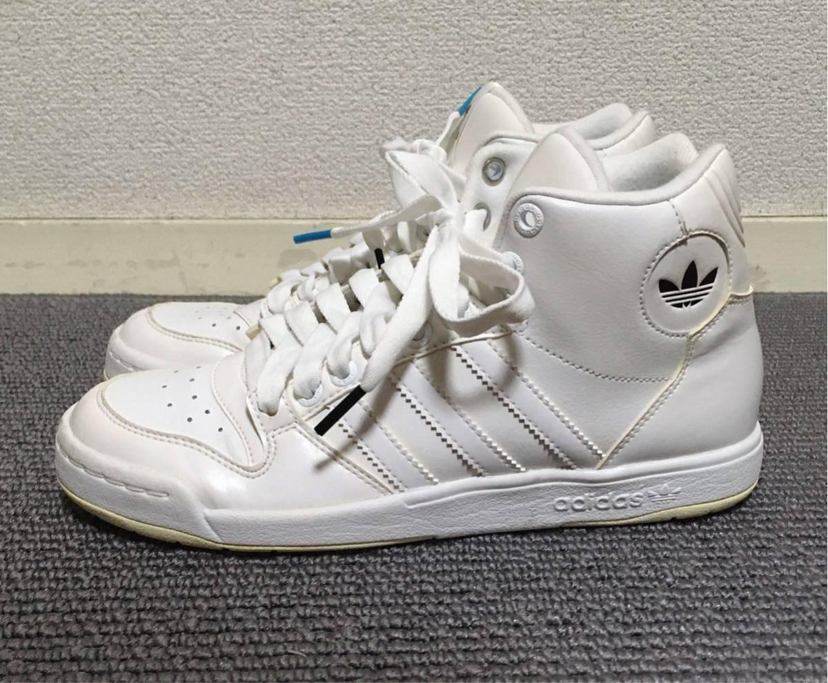 【極美品】adidas ハイカットスニーカー 白 23.5 アディダス
