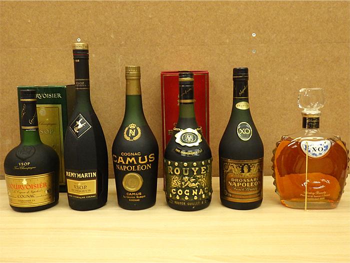 ☆古酒 REMY MARTIN/COURVOISIER/ROUYER/SUNTORY X.O等 6本 未開栓☆