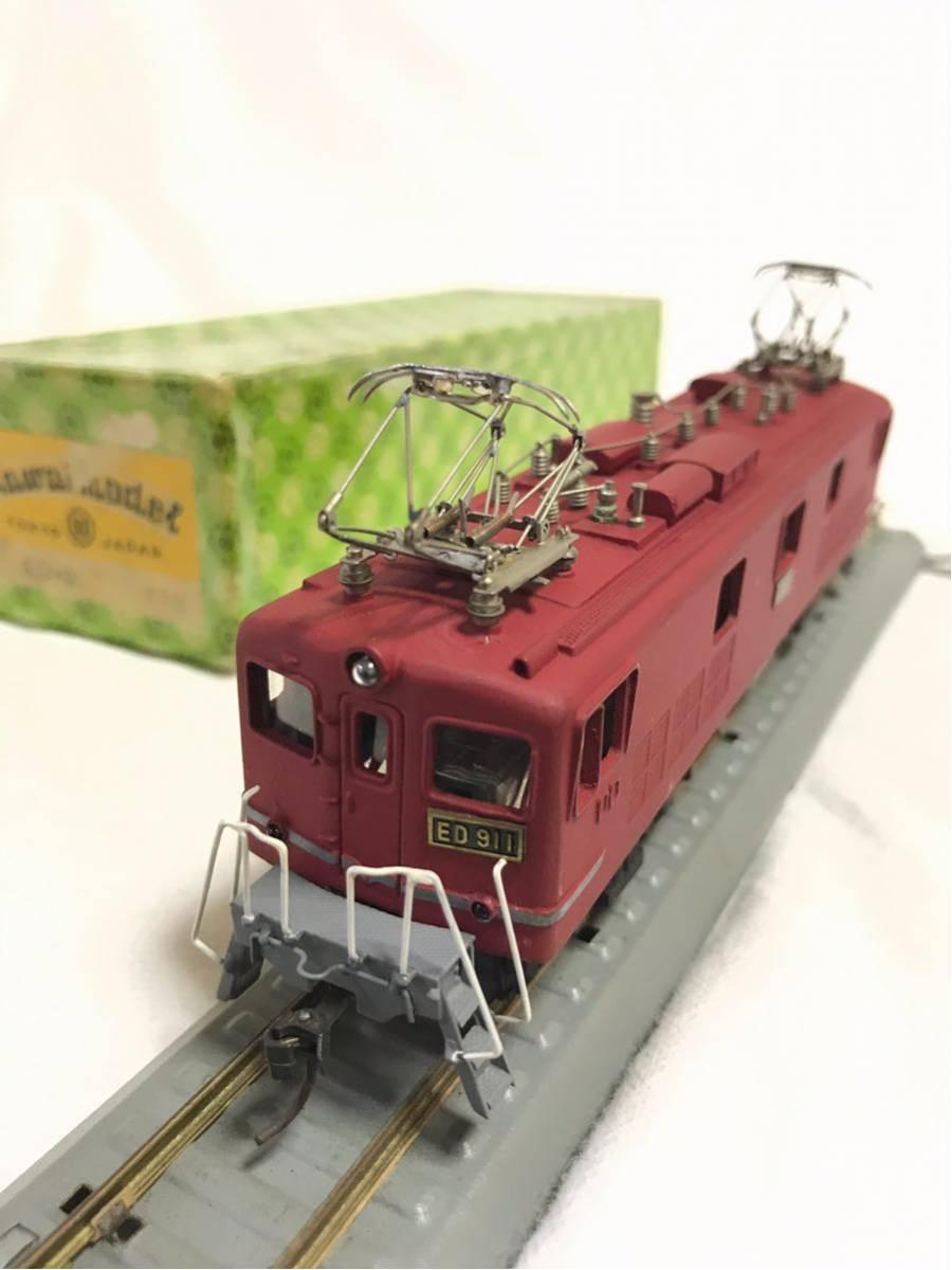 50◆ 年代物希少品【KAWAI MODEL カワイモデル!】HOゲージ/鉄道模型 ED-911 FIN /2288!動作確認済み!中古極美品 箱付き_画像6