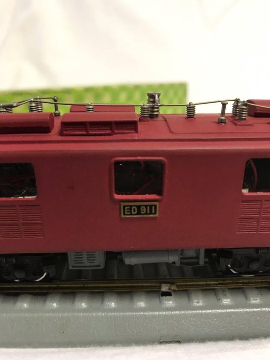 50◆ 年代物希少品【KAWAI MODEL カワイモデル!】HOゲージ/鉄道模型 ED-911 FIN /2288!動作確認済み!中古極美品 箱付き_画像5
