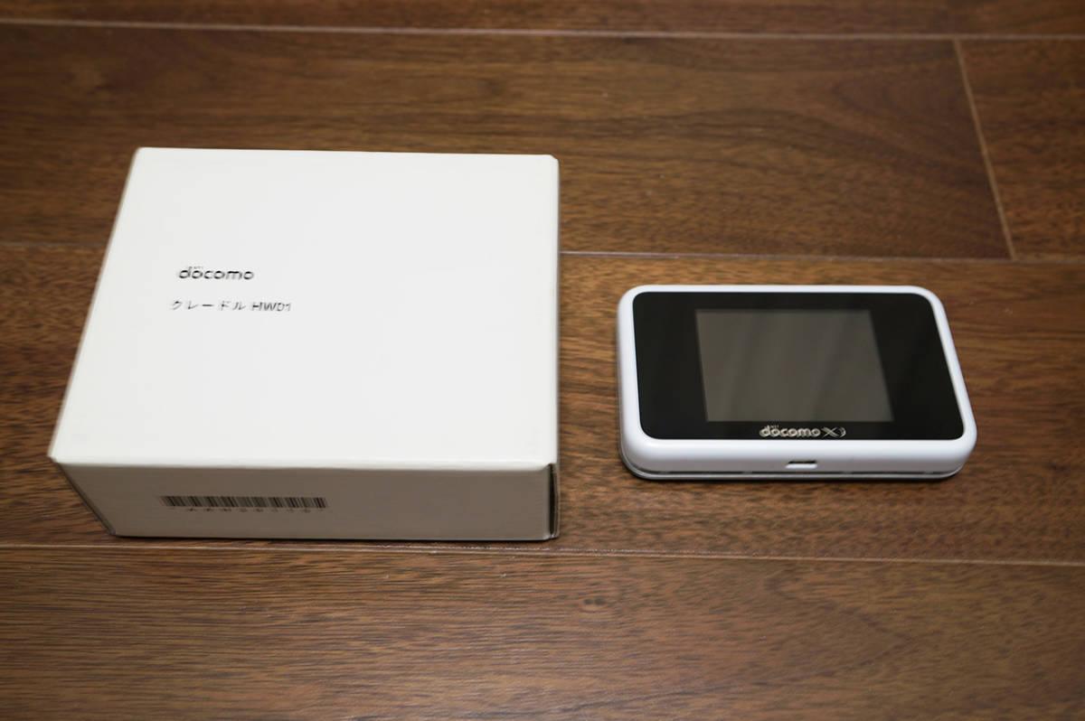 【美品】Huawei docomo Wi-Fi STATION HW-02G White クレードル(HW01)付き