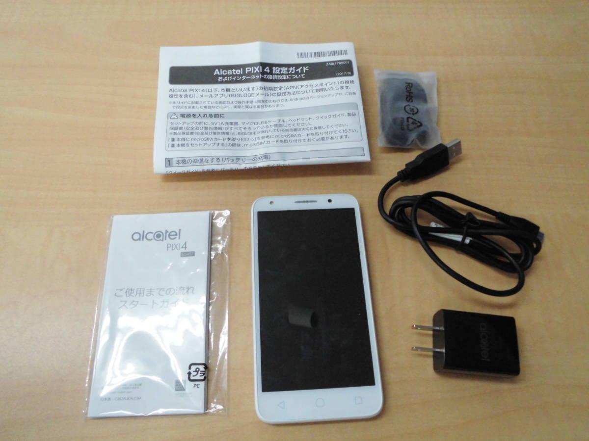 alcatel PIXI4 5045F METAL SILVER P-W スマートフォン スマホ_画像3