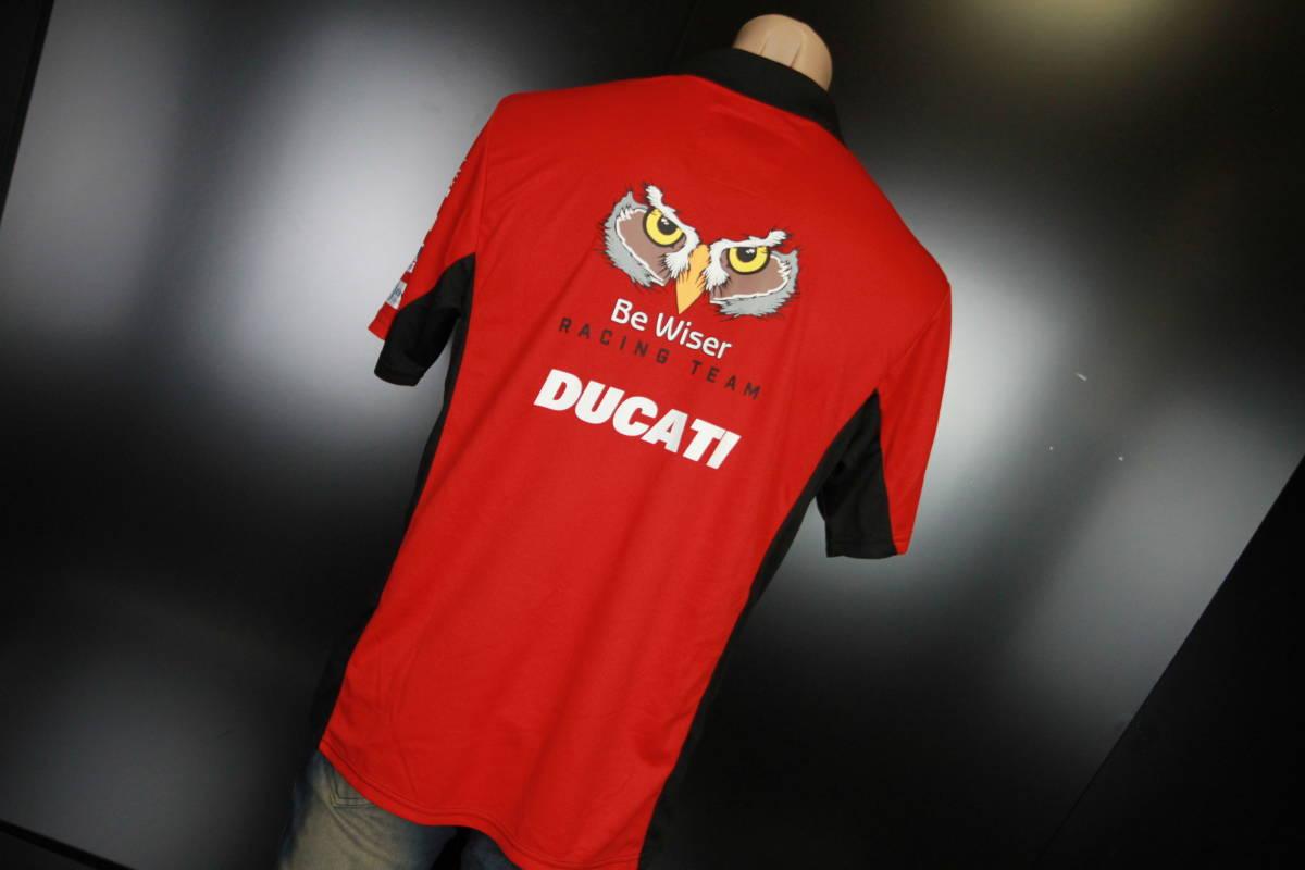 ラスト! 正規品 【Be Wiser DUCATI】 British Super Bike PBM Ducati オフィシャル ポロシャツ 【L】 本物(検:motoGP Ducati Racing )_画像3