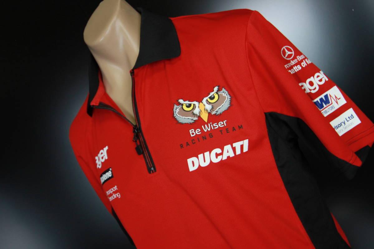 ラスト! 正規品 【Be Wiser DUCATI】 British Super Bike PBM Ducati オフィシャル ポロシャツ 【L】 本物(検:motoGP Ducati Racing )_画像4