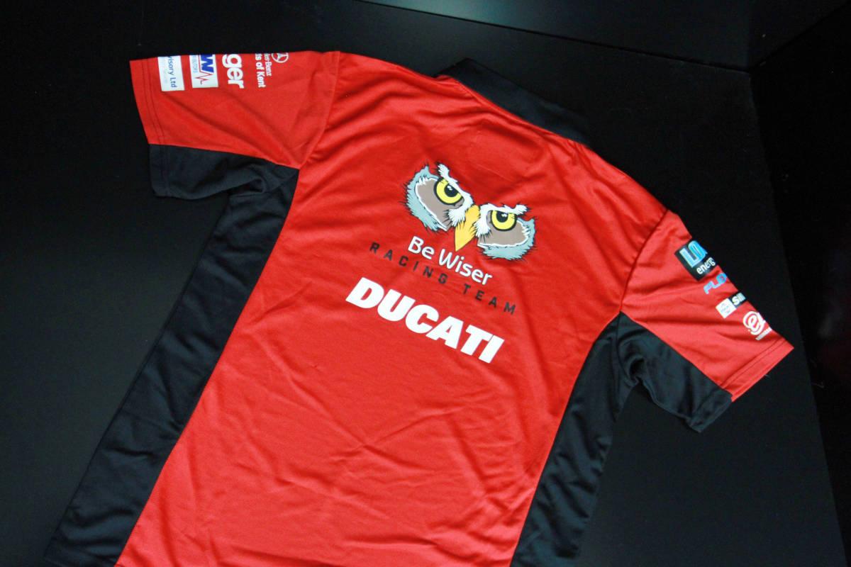ラスト! 正規品 【Be Wiser DUCATI】 British Super Bike PBM Ducati オフィシャル ポロシャツ 【L】 本物(検:motoGP Ducati Racing )_画像7