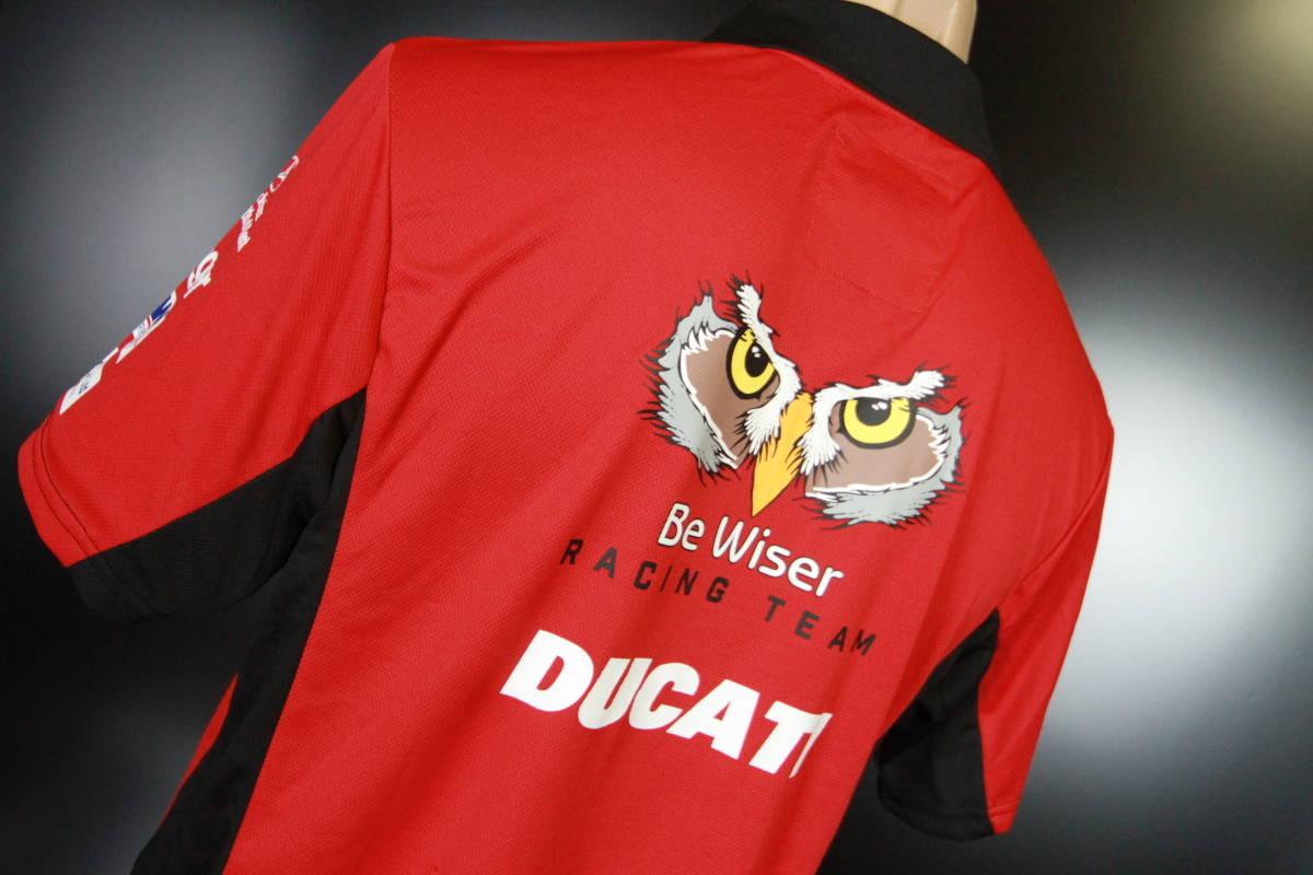 ラスト! 正規品 【Be Wiser DUCATI】 British Super Bike PBM Ducati オフィシャル ポロシャツ 【L】 本物(検:motoGP Ducati Racing )_画像9