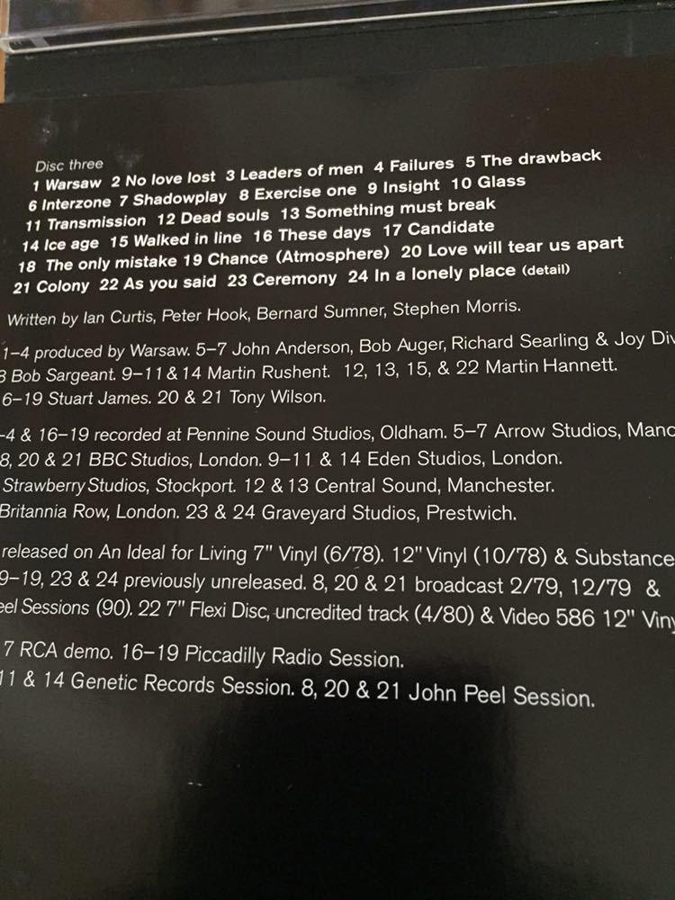 NEW ORDER 前身バンド Joy Division 4枚組 BOX SET Heart and Soul イアン・カーティス 貴重 12インチヴァージョン 未発表曲 ライブ音源_画像6