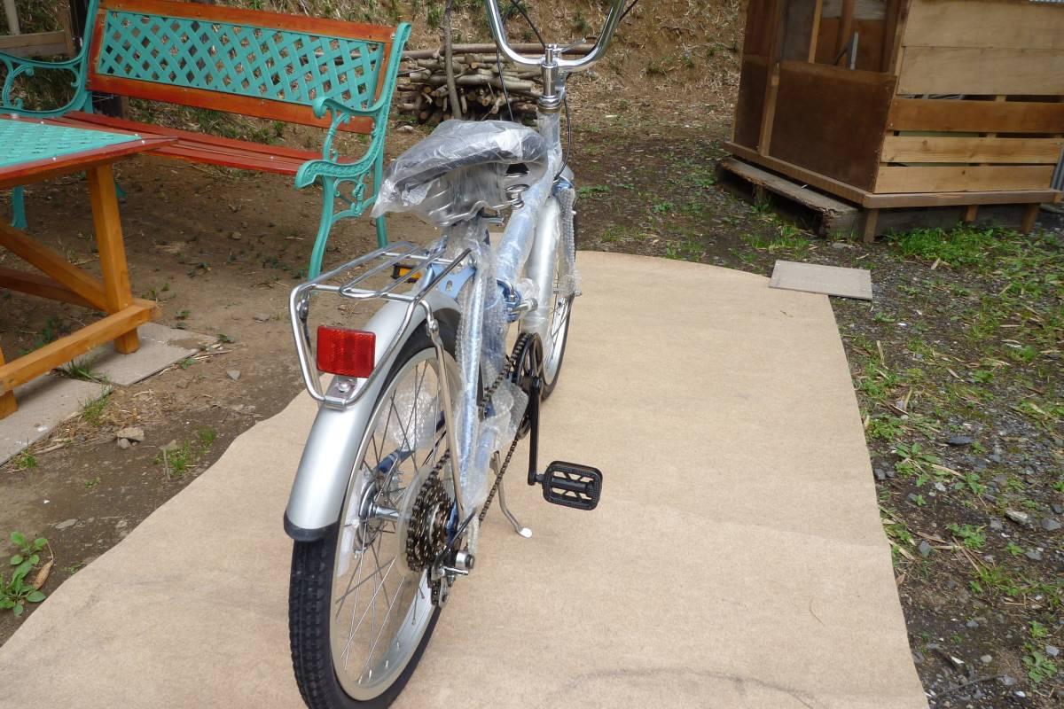 折り畳み自転車 KU-20型 色シルバー&ブルー 5速ギア_画像4
