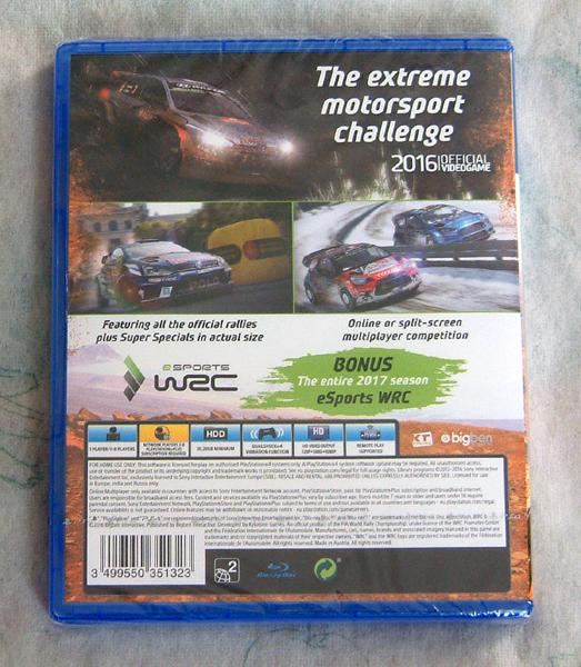 送料140円●新品訳アリ PS4 WRC 6 海外版 / FIAオフィシャル ラリー シム_画像2