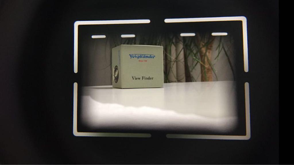 フォクトレンダー Voigtlander 50mm 光学 ビューファインダー 等倍 シルバー 極上美品 コシナ ベッサTやバルナックライカに_画像8
