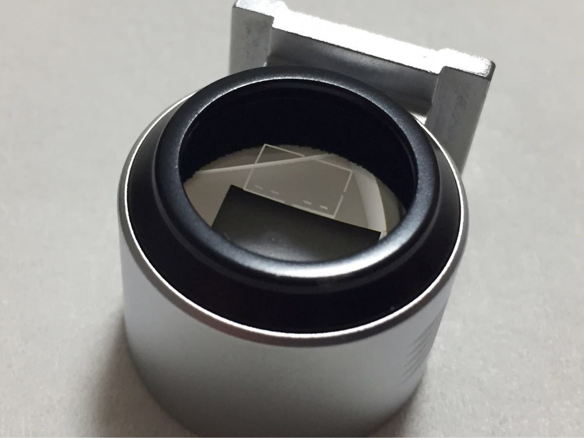フォクトレンダー Voigtlander 50mm 光学 ビューファインダー 等倍 シルバー 極上美品 コシナ ベッサTやバルナックライカに_画像5