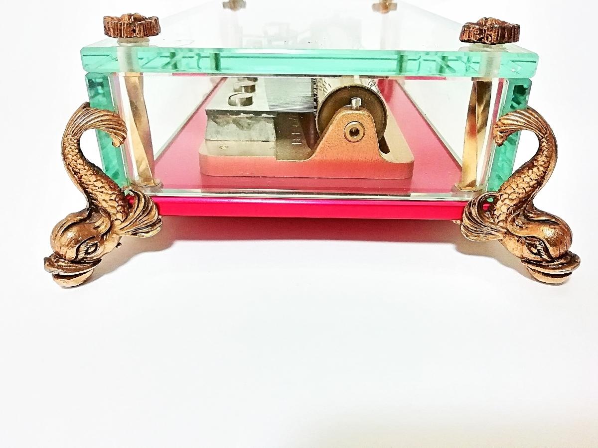 ★希少★リュージュ REUGE CH 3/72 オルゴール ガラスボックス 72弁 クリスタルBOX 動作品 _画像8