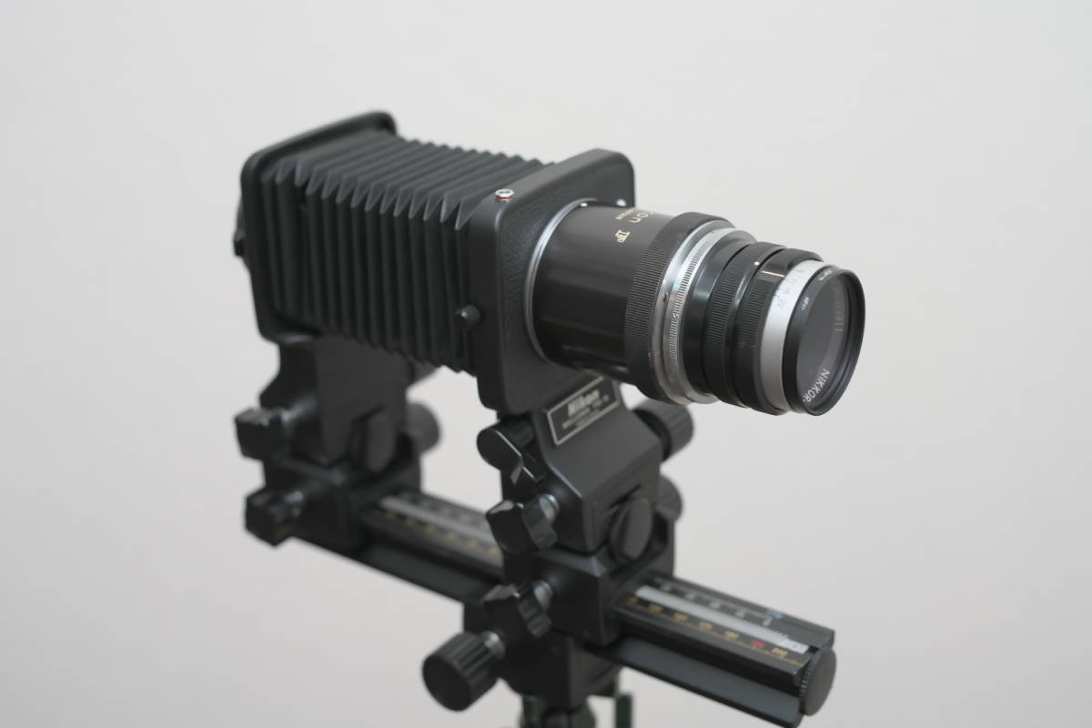 超美品 産業用ニッコール NIKKOR-Q 135mm f4 ベローズ付き