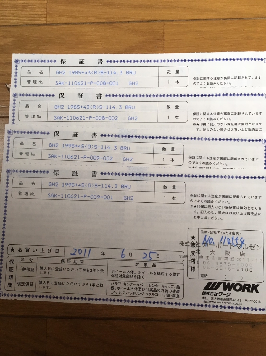 1円スタート!ワーク WORKグノーシスGH2 ブラッシュドタイプ 19インチ ロックナット付き!_画像3