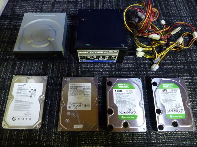 送料無料 自作PCセット P8H67-V/P7HP55D-M/他2枚 RADEON HD5870 2台 GTX470 グラボ5枚//1TB HDD 4台/電源ユニット/ジャンクにて_画像5