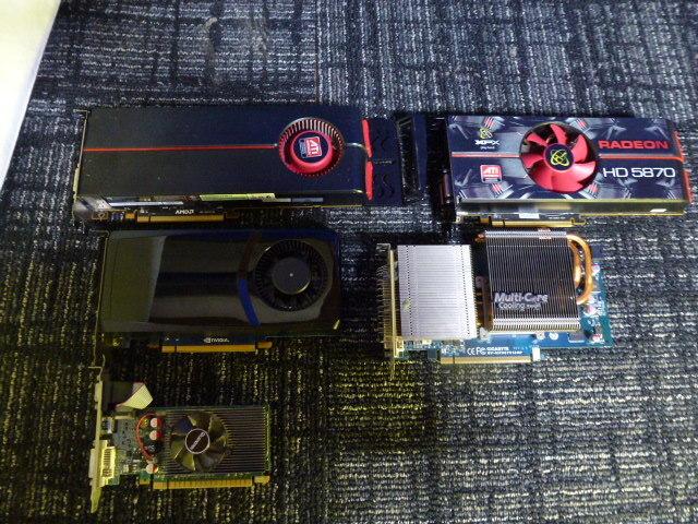 送料無料 自作PCセット P8H67-V/P7HP55D-M/他2枚 RADEON HD5870 2台 GTX470 グラボ5枚//1TB HDD 4台/電源ユニット/ジャンクにて_画像6