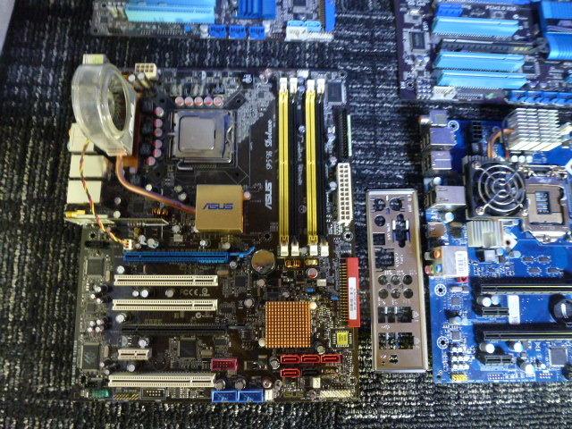 送料無料 自作PCセット P8H67-V/P7HP55D-M/他2枚 RADEON HD5870 2台 GTX470 グラボ5枚//1TB HDD 4台/電源ユニット/ジャンクにて_画像3