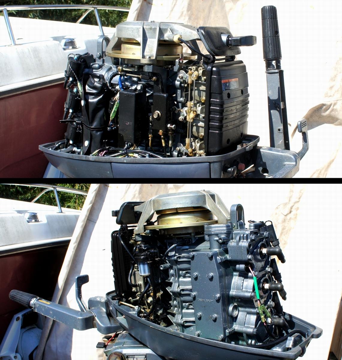 実働・美品!ヤマハ 2スト 30馬力船外機 型式【6J8-L】バーハンドル L足 船舶/エンジン _画像8