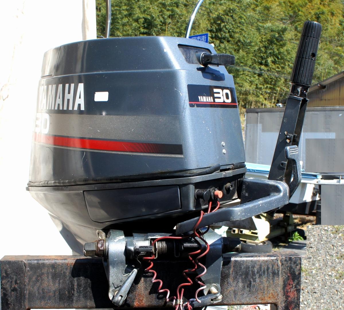 実働・美品!ヤマハ 2スト 30馬力船外機 型式【6J8-L】バーハンドル L足 船舶/エンジン _画像4