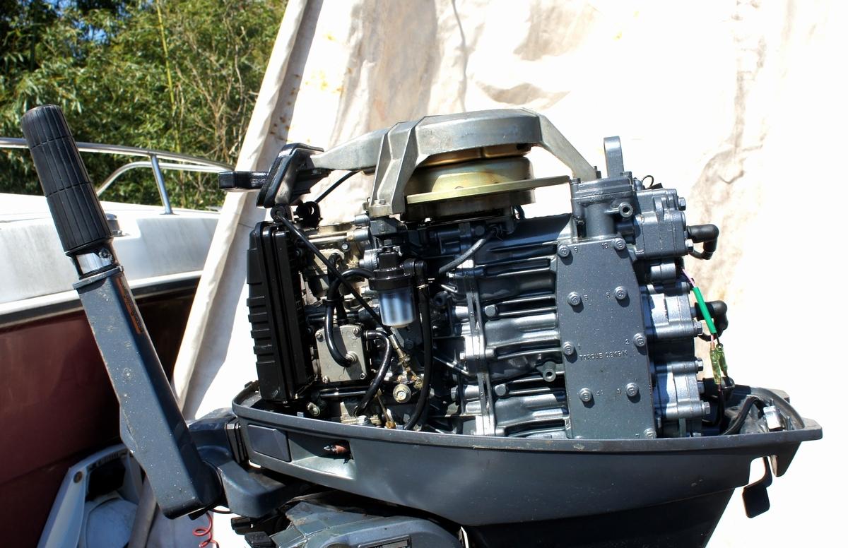 実働・美品!ヤマハ 2スト 30馬力船外機 型式【6J8-L】バーハンドル L足 船舶/エンジン _画像6