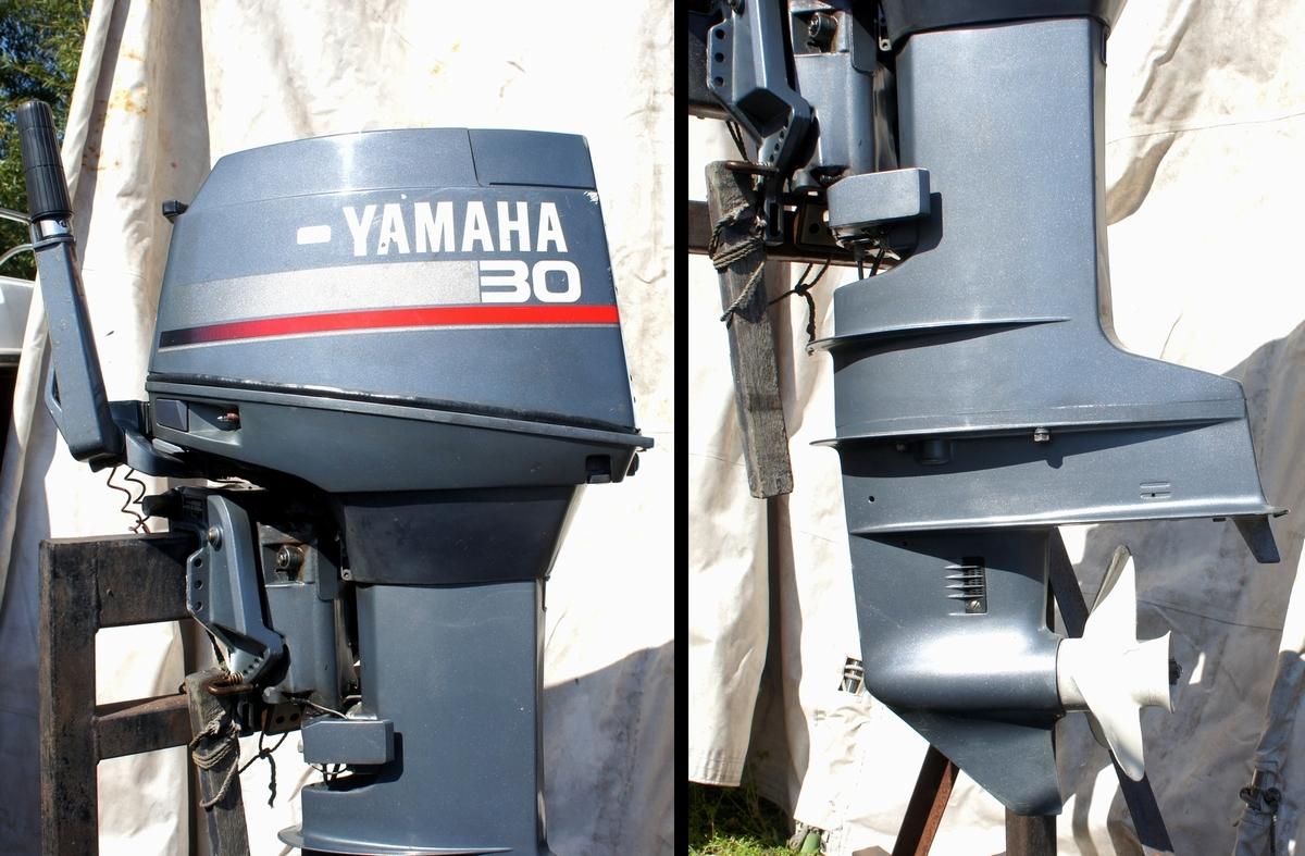 実働・美品!ヤマハ 2スト 30馬力船外機 型式【6J8-L】バーハンドル L足 船舶/エンジン _画像3