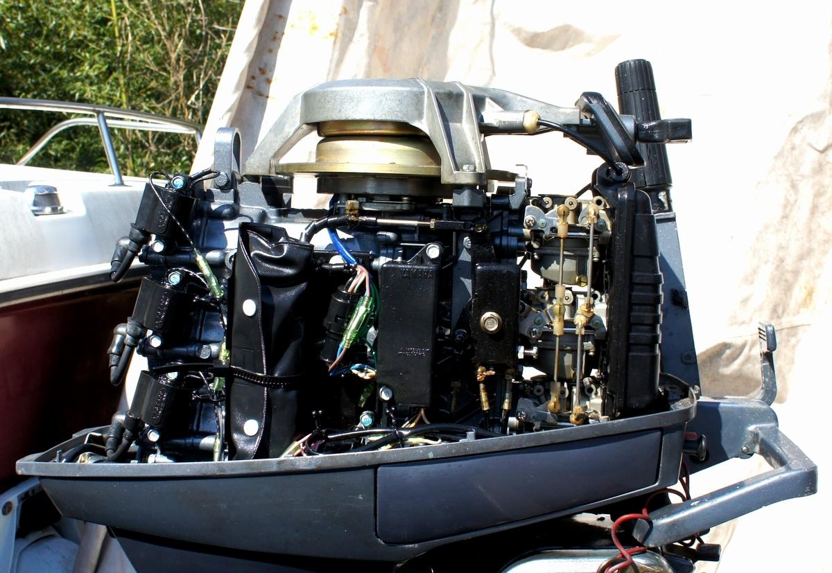 実働・美品!ヤマハ 2スト 30馬力船外機 型式【6J8-L】バーハンドル L足 船舶/エンジン _画像7