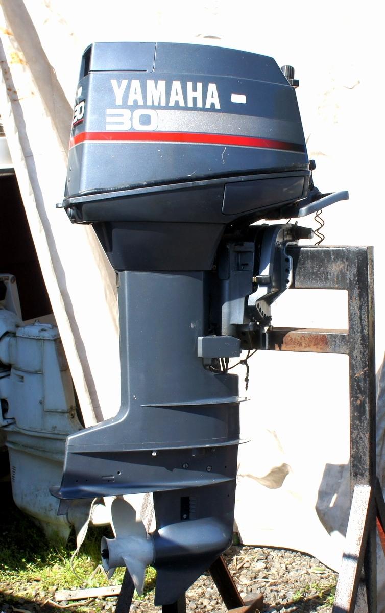 実働・美品!ヤマハ 2スト 30馬力船外機 型式【6J8-L】バーハンドル L足 船舶/エンジン _画像2