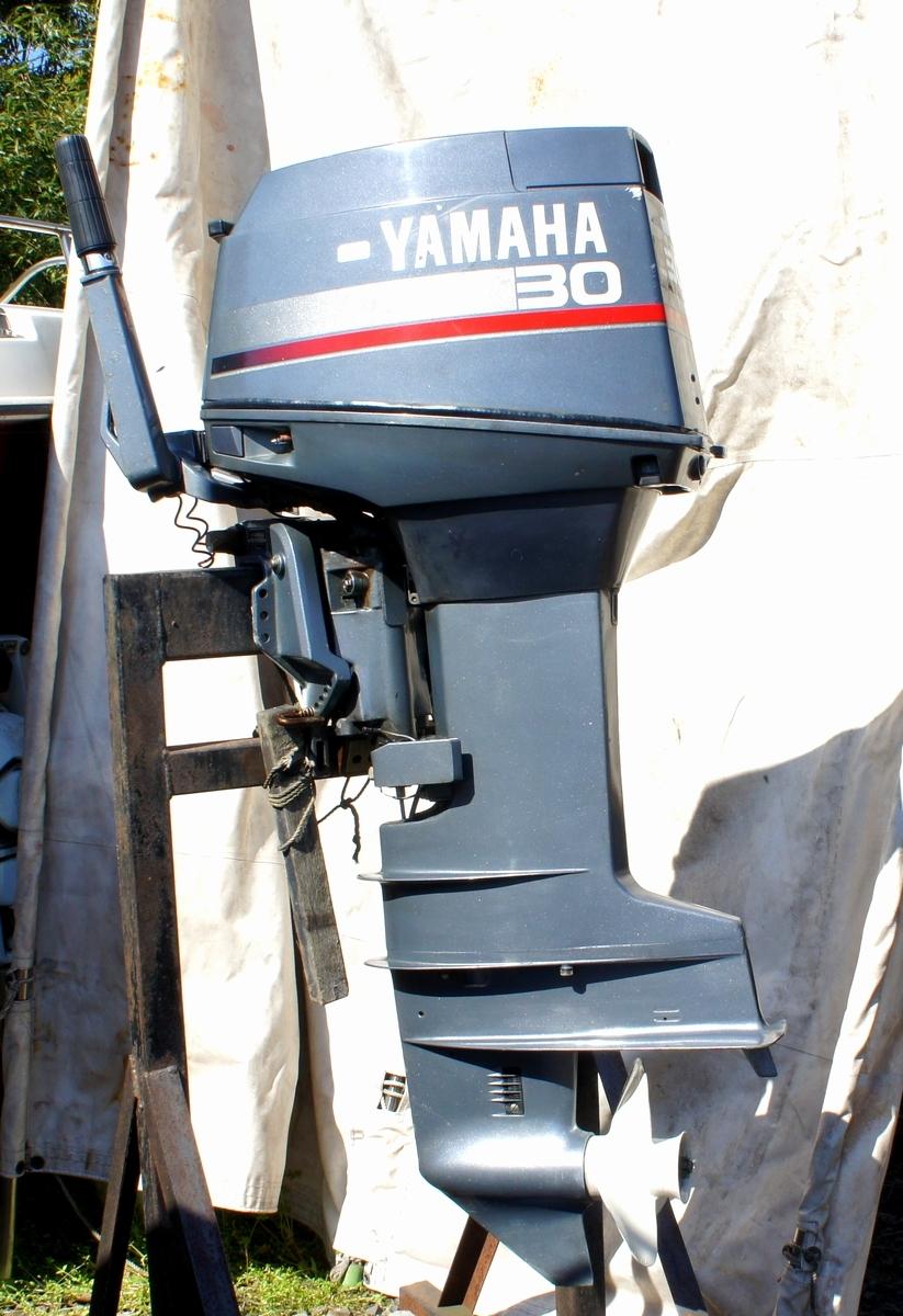 実働・美品!ヤマハ 2スト 30馬力船外機 型式【6J8-L】バーハンドル L足 船舶/エンジン