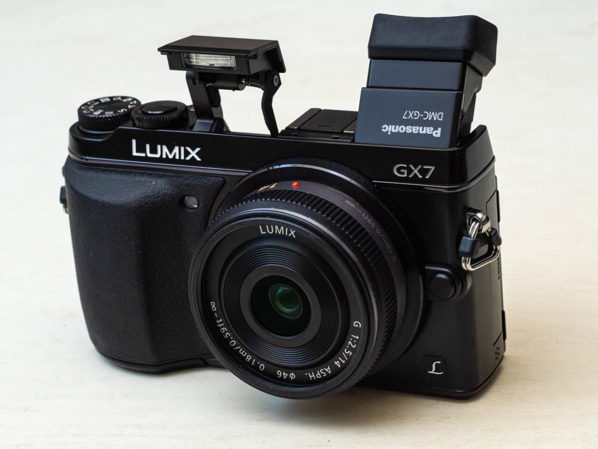 ★マイクロフォーサーズ入門に最適★ Panasonic DMC-GX7+LUMIX G 14mm F2.5 美品セット パナソニック_画像9