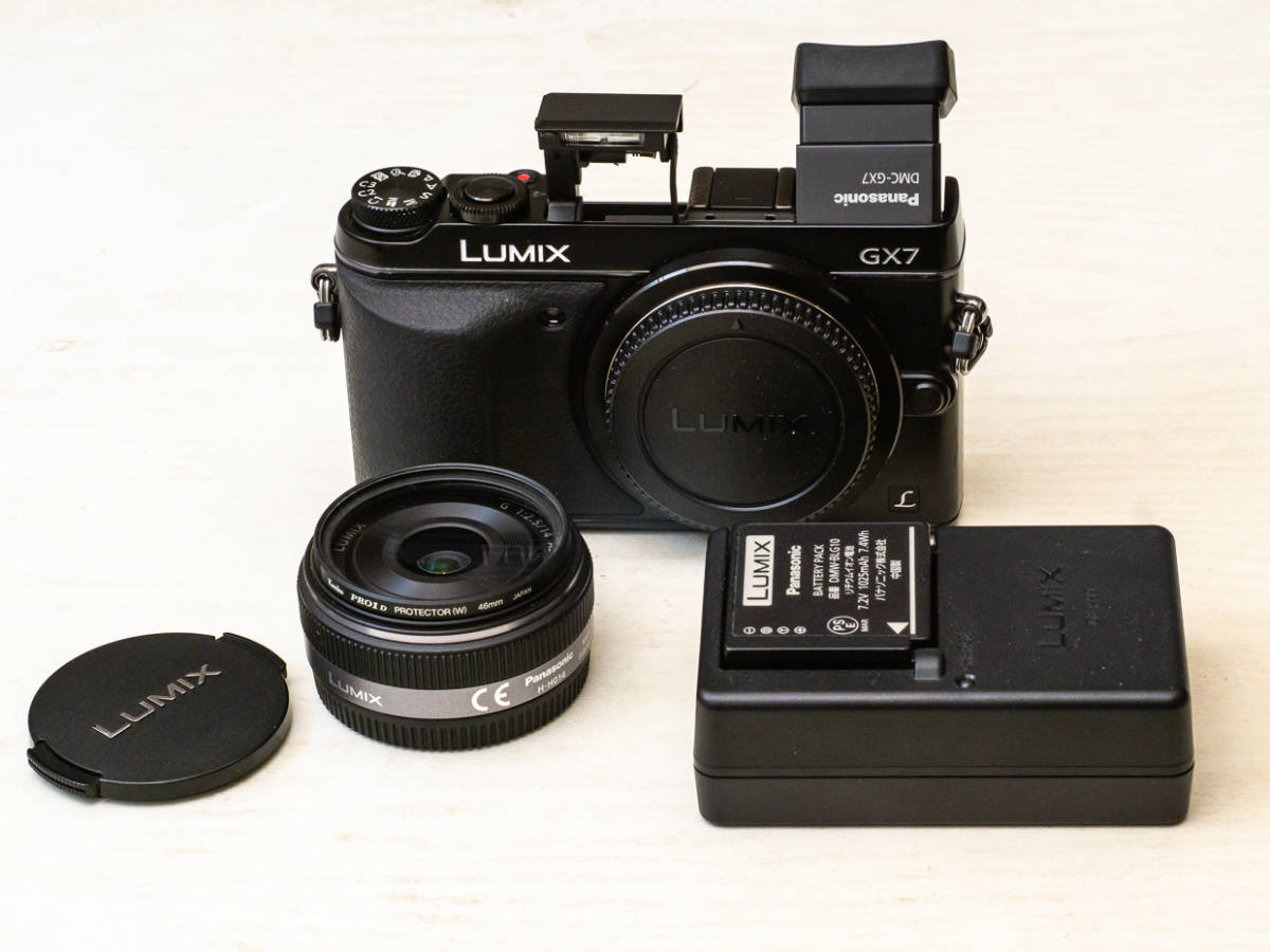 ★マイクロフォーサーズ入門に最適★ Panasonic DMC-GX7+LUMIX G 14mm F2.5 美品セット パナソニック_画像3