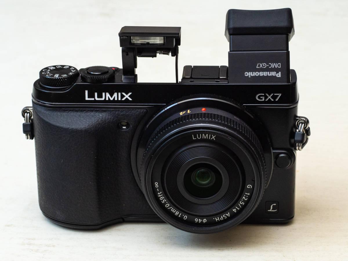 ★マイクロフォーサーズ入門に最適★ Panasonic DMC-GX7+LUMIX G 14mm F2.5 美品セット パナソニック