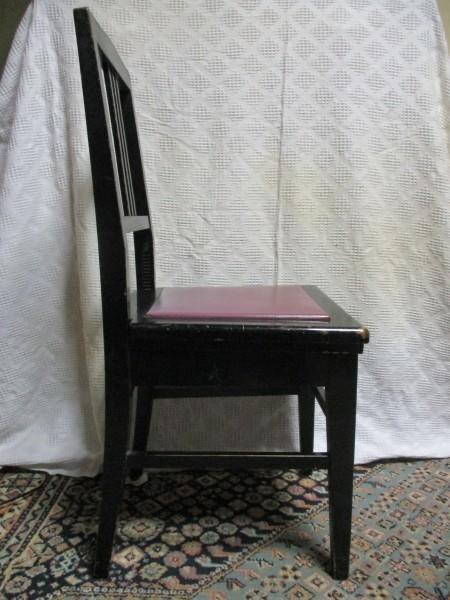 背もたれ付き ピアノ椅子 中古_画像3