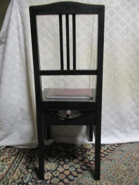 背もたれ付き ピアノ椅子 中古_画像2