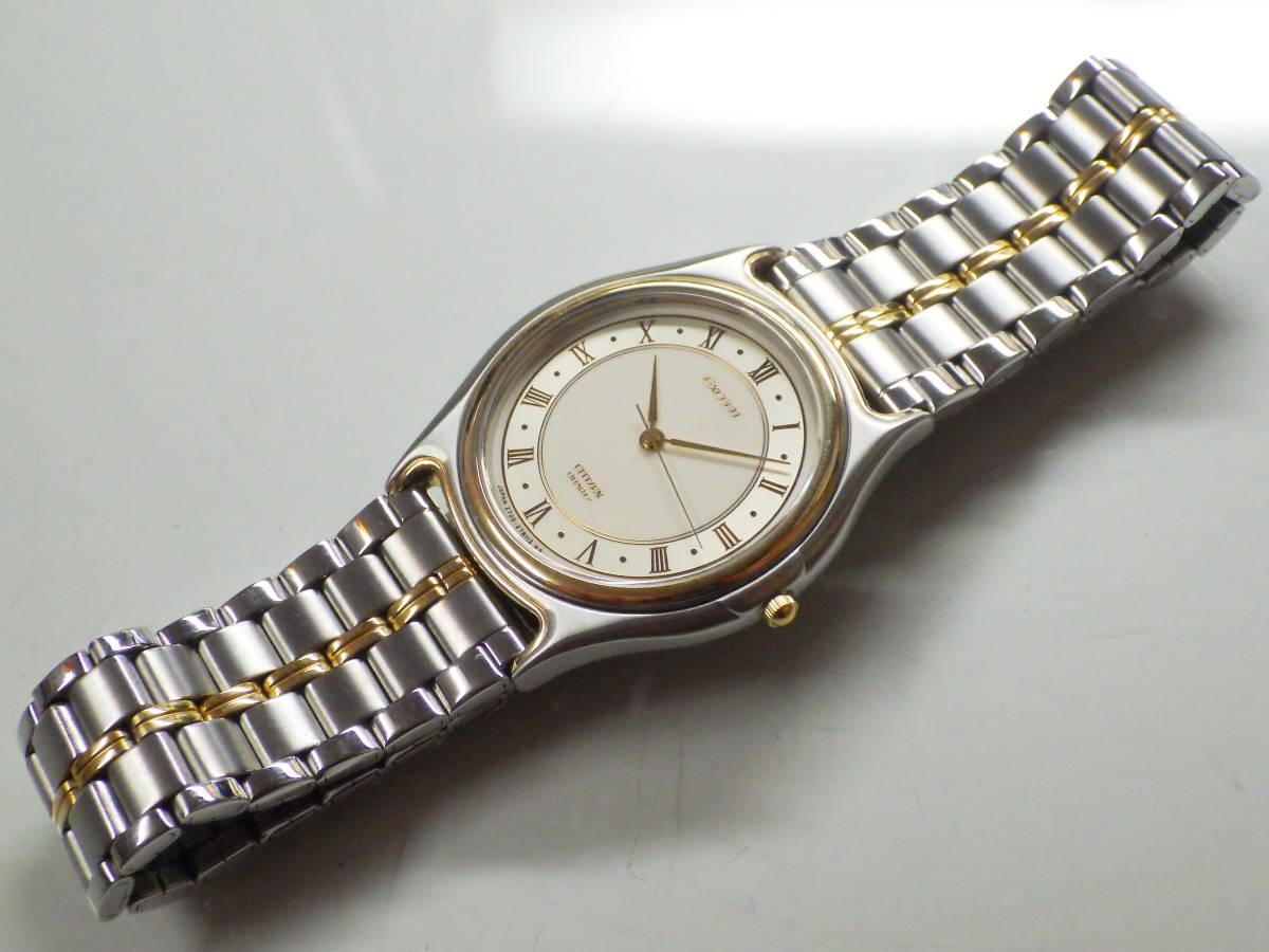 シチズン エクシード OH済み。メンズ・男性用クォーツ腕時計。EAA74-8626。_画像5