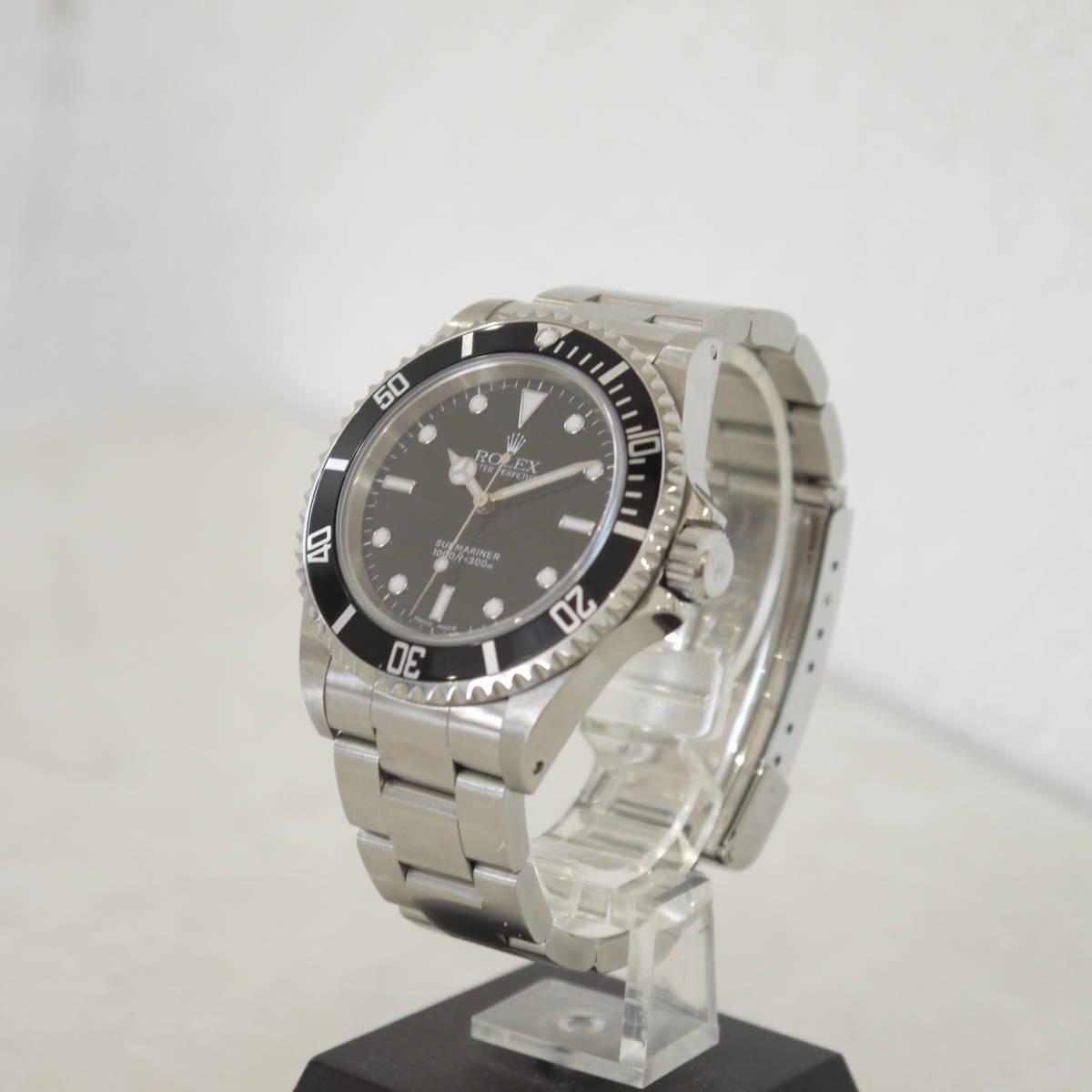 早い者勝ち!! 100%正規品 ROLEX ロレックス サブマリーナ メンズ 自動巻き 腕時計 オートマ 14060M ブラック 黒_画像2