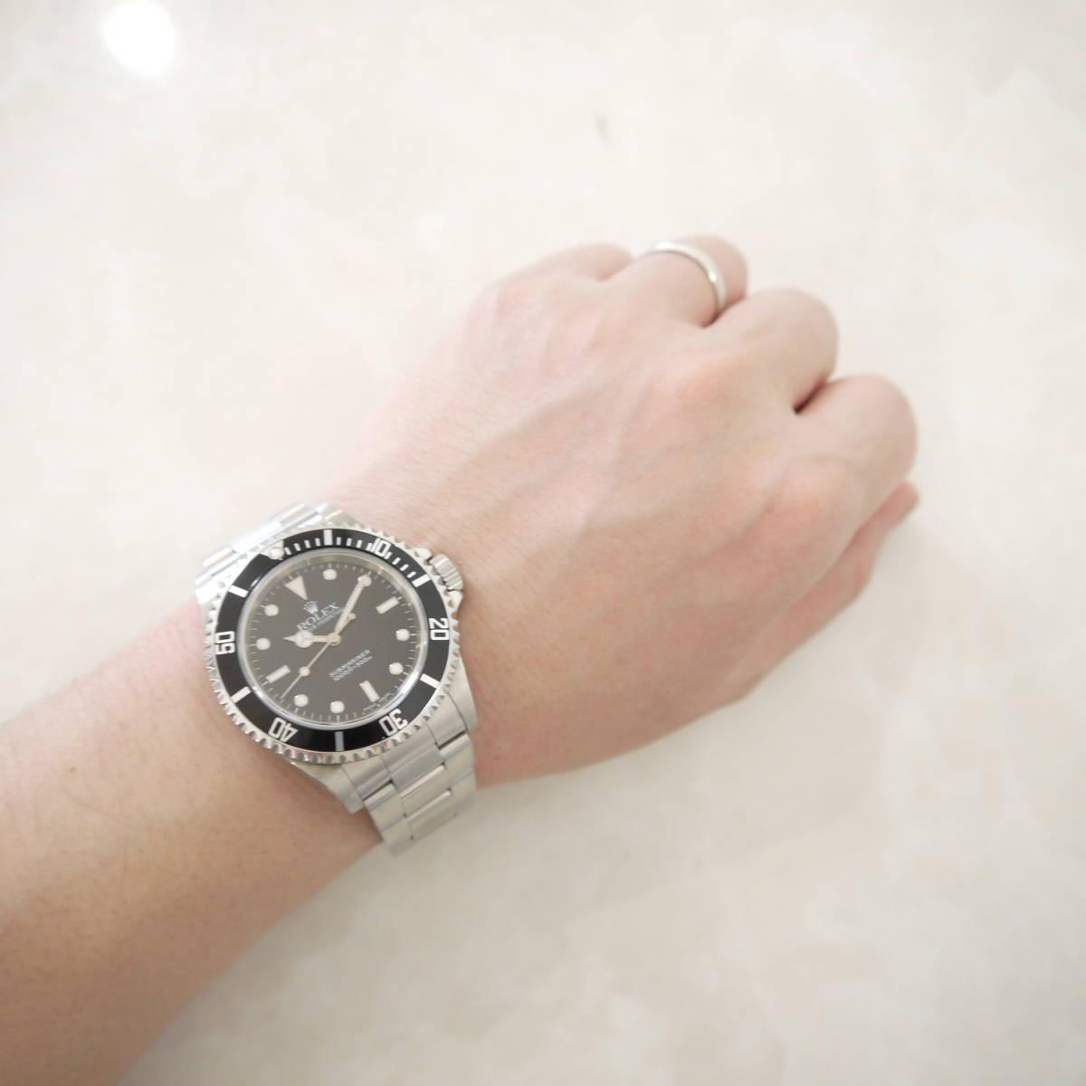 早い者勝ち!! 100%正規品 ROLEX ロレックス サブマリーナ メンズ 自動巻き 腕時計 オートマ 14060M ブラック 黒_画像9